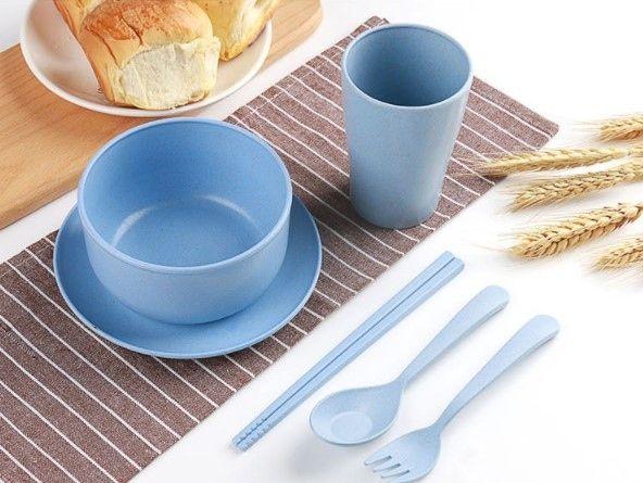 Набор детской посуды ЭКО NATURE   BLUE