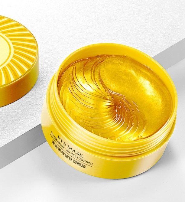 Патчи гидрогелевые BIOAQUA увлажняющие для области вокруг глаз с частичками золота 80г/60шт