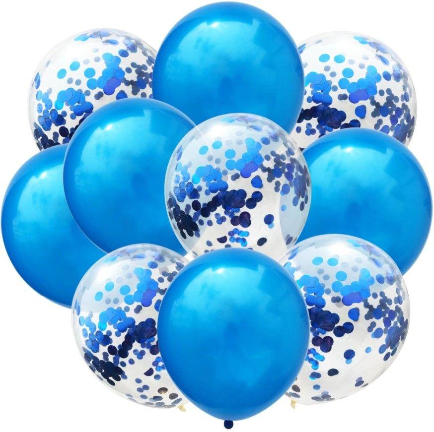 """Воздушные шары """"Конфетти"""" blue, 10 шт"""