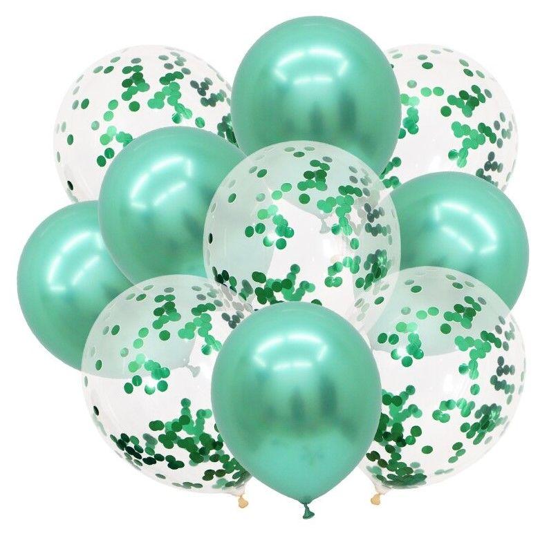 """Воздушные шары """"Конфетти"""" green, 10 шт"""