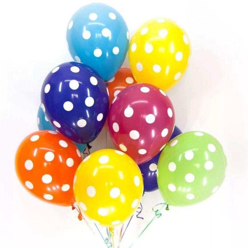 """Воздушные шары """"Горошек"""" 10 шт."""