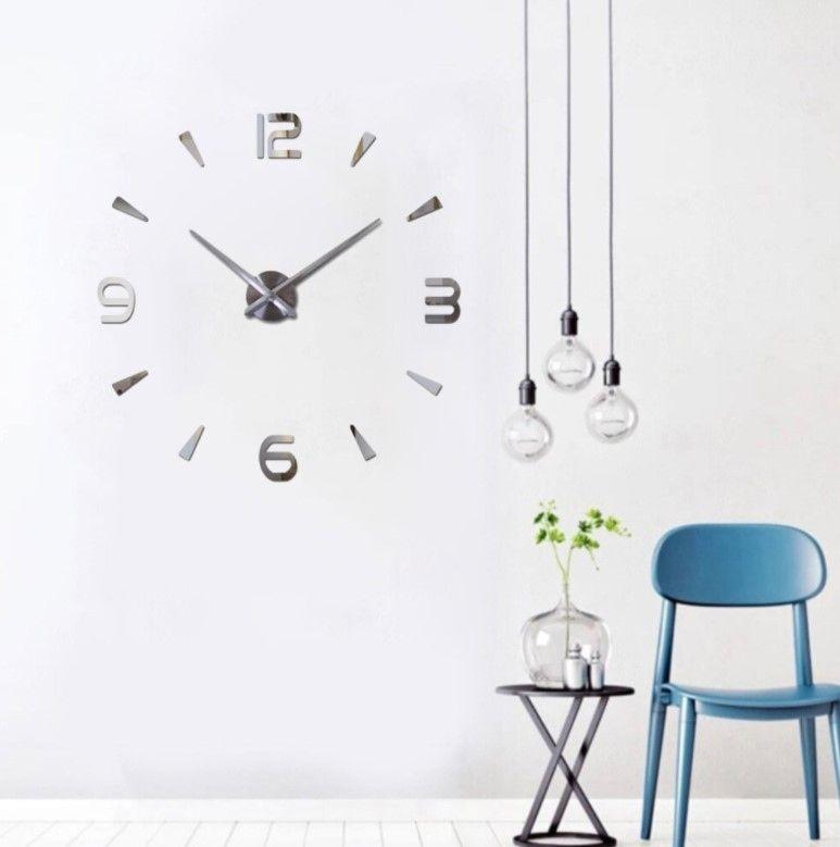 Часы-наклейка DIY Silver