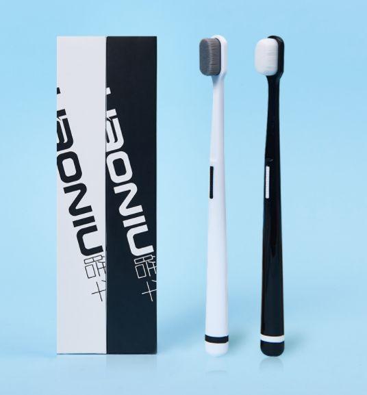 Зубная щетка Hao Niu Family White/ black