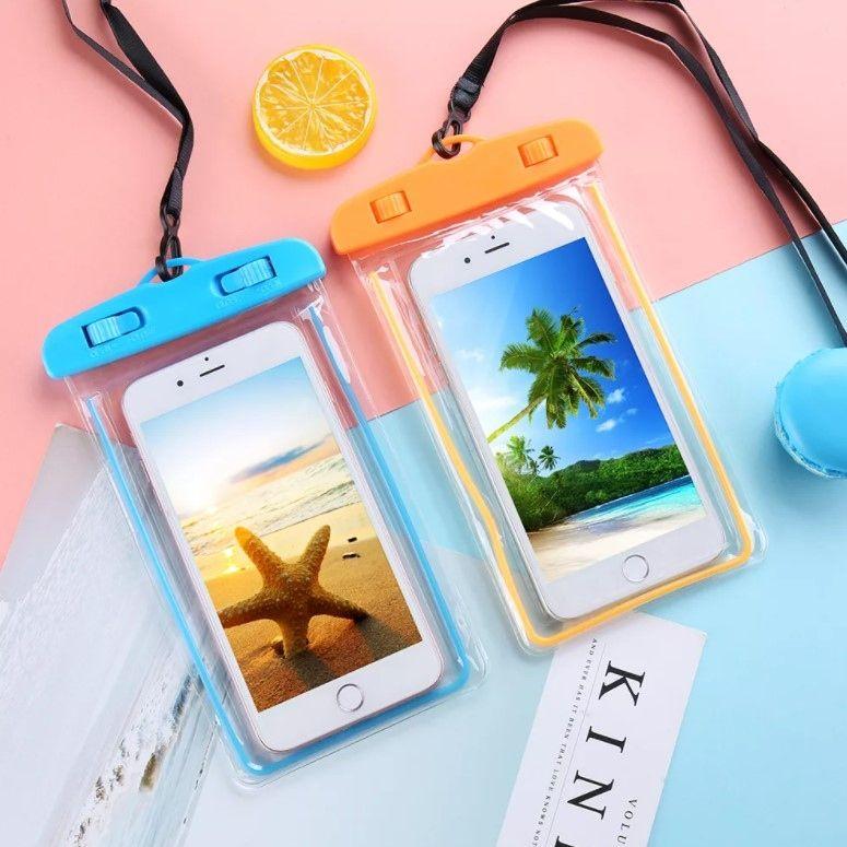Чехол для телефона водонепроницаемый, люминесцентный, на ленте