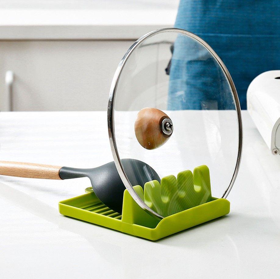 Кухонная подставка под ложку, поварешку, лопатку  green