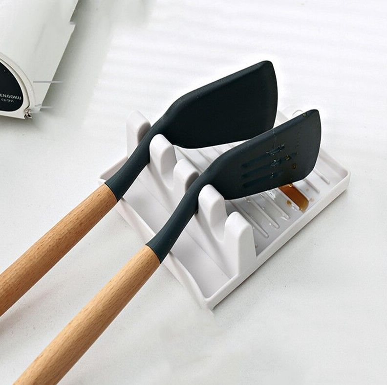 Кухонная подставка под ложку, поварешку, лопатку   White