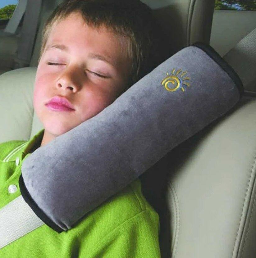 Подушка-накладка на ремень безопасности детская grey