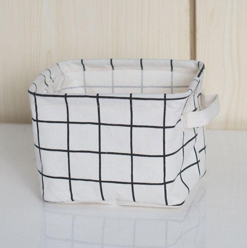 Корзина для хранения из хлопка и льна White