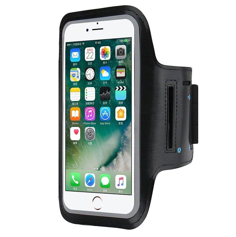 Спортивная сумка-чехол для смартфона на руку black